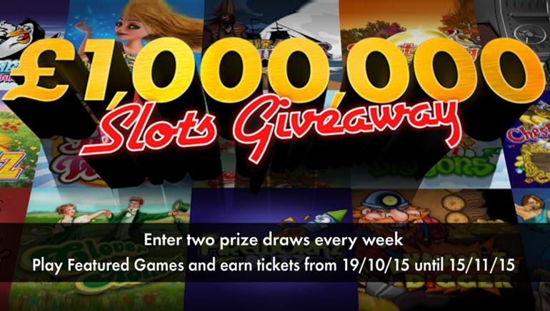 bet365 カジノ £1,000,000 / $1,500,000 ギブアウェイに参加して、大金を手に入れよう。