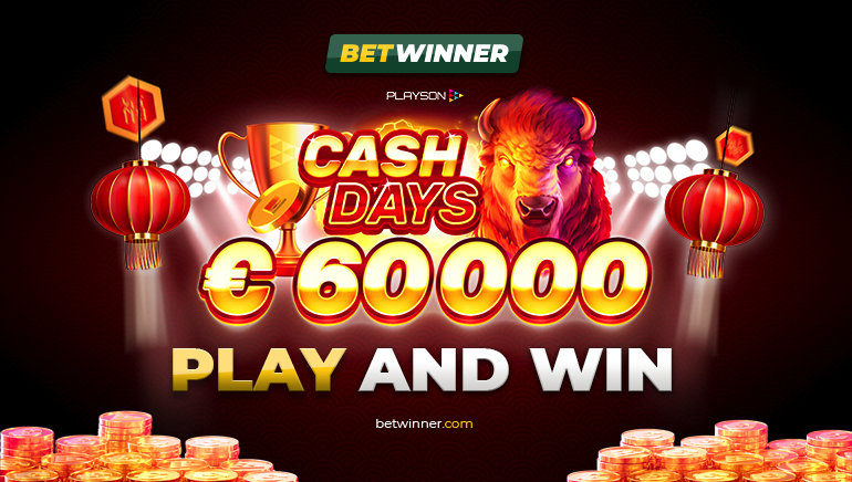 Betwinner Casinoで開催中の€60,000フェブリュアリーキャッシュデイズ
