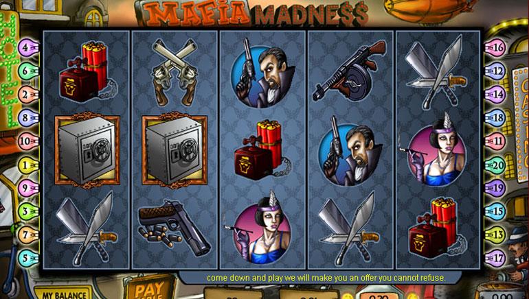 「Mafia Madness」 - 無料スピン100 回分
